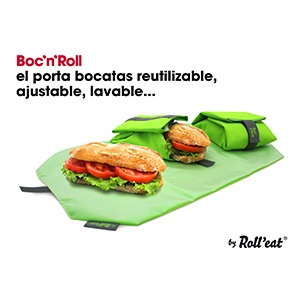 Roll'eat - Porta bocadillos reutilizable Boc'n'roll
